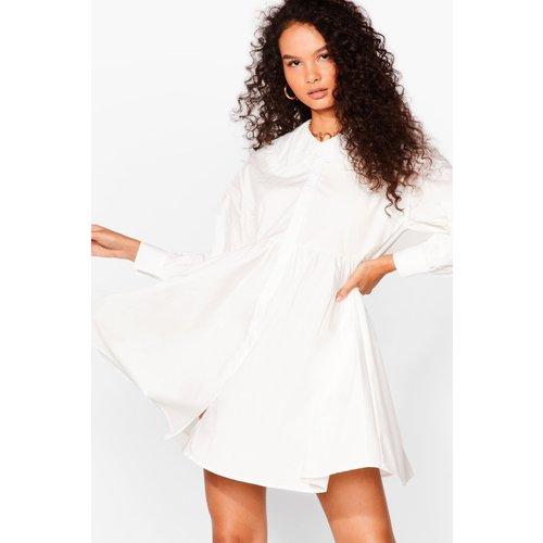 Womens Dressing Gown Chemise À Smocks Et Col Claudine Oversize - Nasty Gal - Modalova