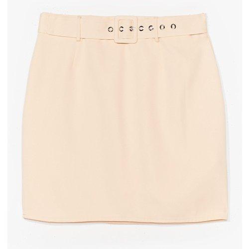 Womens Mini Jupe Ceinturée Taille Haute J'Ai Un Mini Crush - Nasty Gal - Modalova