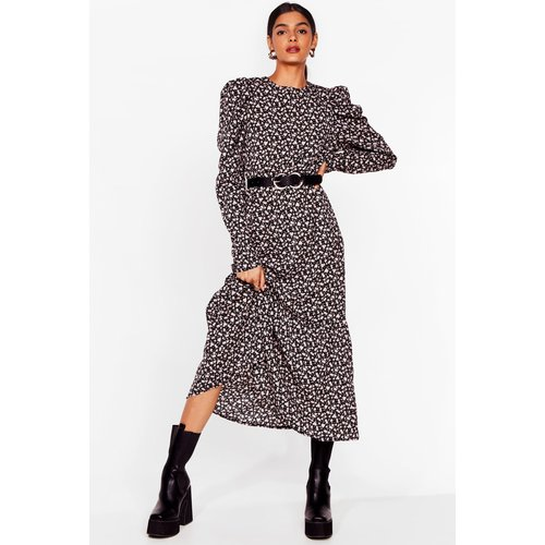 Womens Puff Sleeve Midaxi Dress - Nasty Gal - Modalova