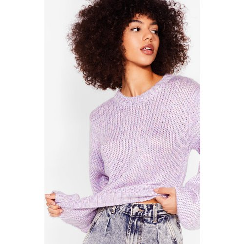 Womens Pull Ample En Grosse Maille À Manches Ballon It'S Maille Choice - Nasty Gal - Modalova