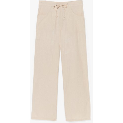 Womens Pantalon Large En Lin Du Love Extra Large - Nasty Gal - Modalova