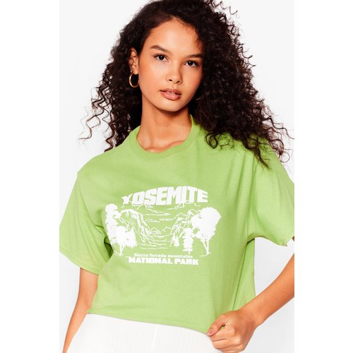 Womens T-Shirt Court À Impression Yosemite - Nasty Gal - Modalova