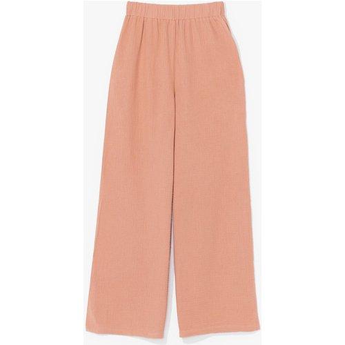 Womens Pantalon Large À Taille Haute Élastiquée - Nasty Gal - Modalova