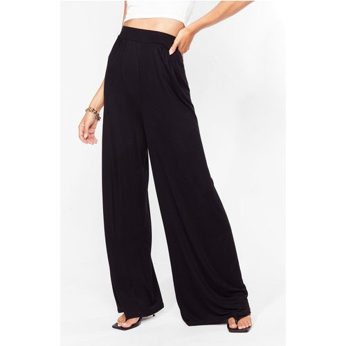 Womens Pantalon Large Taille Haute - Nasty Gal - Modalova