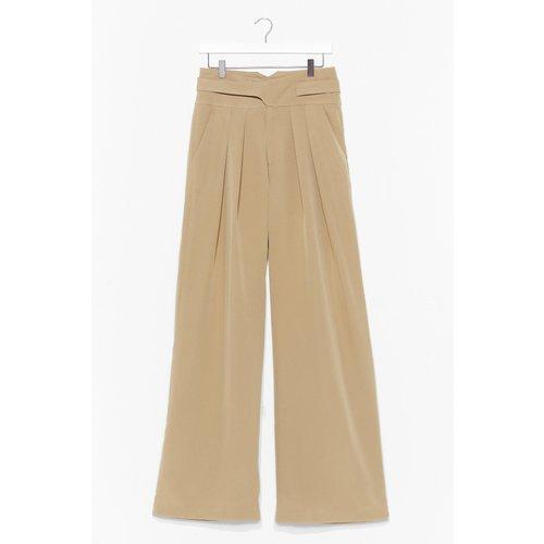Womens Pantalon Large Taille Haute Je Suis Largement Au Dessus - Nasty Gal - Modalova