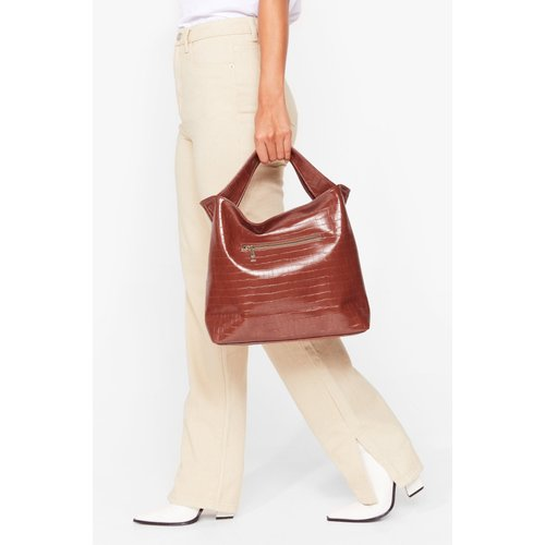 Womens Tote Bag Want En Similicuir Effet Croco - Nasty Gal - Modalova