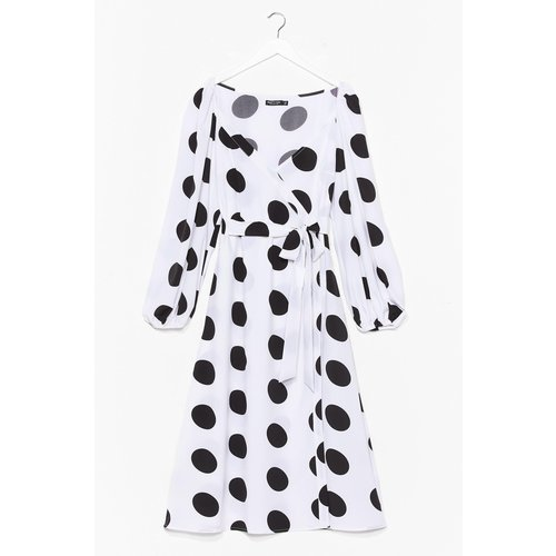 Womens Dressing Gown Portefeuille À Imprimé Pois - Nasty Gal - Modalova