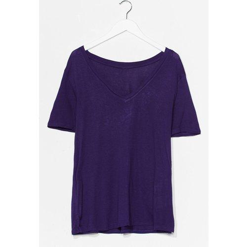 Womens T-Shirt Basique À Col V Je Ne Sais Pas Où Je V Aller - Nasty Gal - Modalova