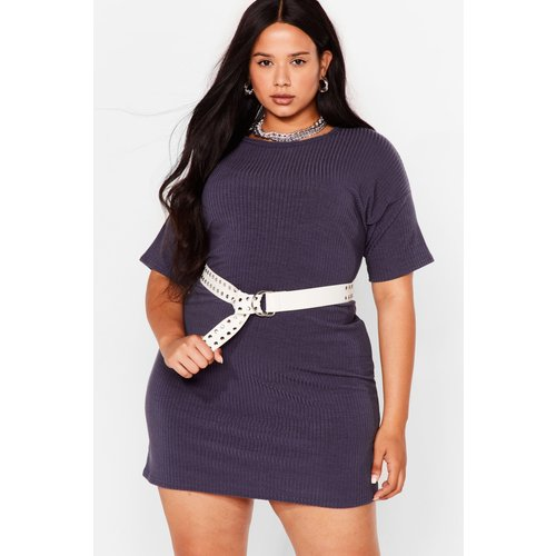 Womens Grande Taille - Dressing Gown T-Shirt Côtelée T Pas Prête - Nasty Gal - Modalova