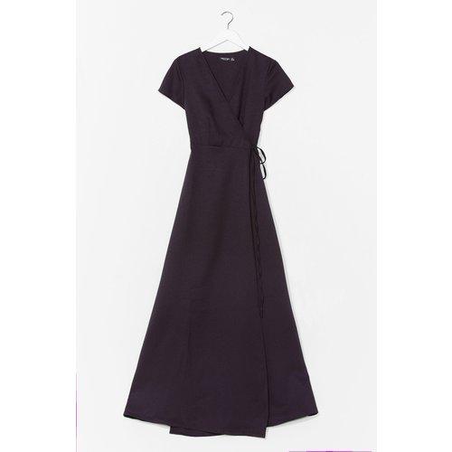 Womens Dressing Gown Longue Portefeuille À Col V - Nasty Gal - Modalova