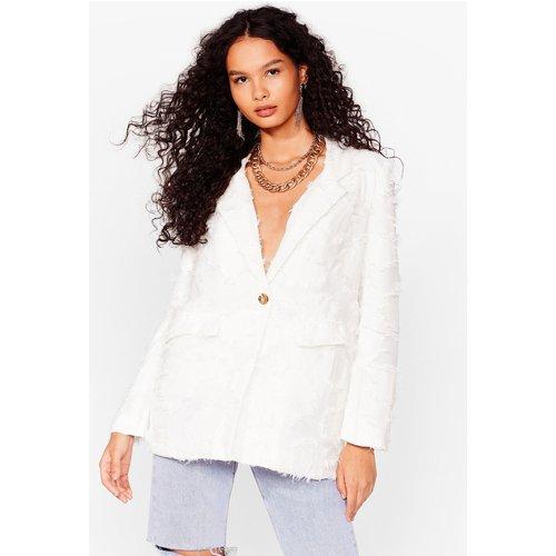 Womens Blazer De Tailleur Texturée Lady Boss - Nasty Gal - Modalova