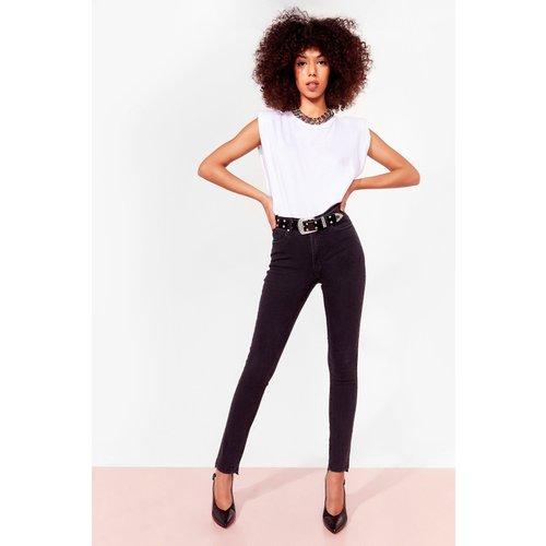 Womens Jean Skinny Taille Haute À Ourlet Brut Tout Est Skinny Entre Nous - Nasty Gal - Modalova