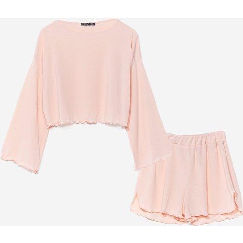 Womens Pyjama Pull & Short À Ourlet Ondulé De Bonnes Ondes Pour Faire Dodo - Nasty Gal - Modalova