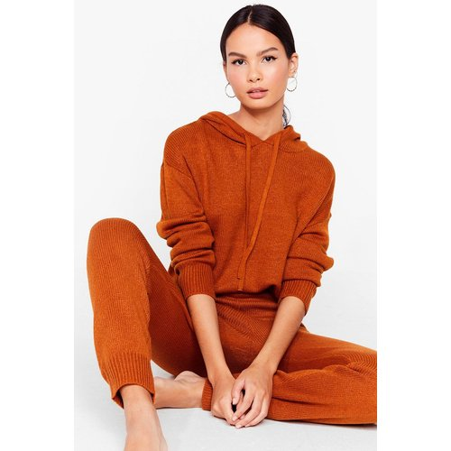 Womens Ensemble De Confort En Maille Sweat & Pantalon Mode Netflix Activé - Nasty Gal - Modalova