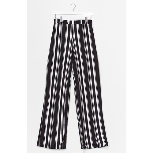 Womens Pantalon Large À Rayures Garde La Ligne - Nasty Gal - Modalova