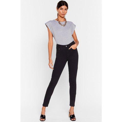 Womens Jean Skinny Taille Haute Je T'Ai Dans La Skin - Nasty Gal - Modalova