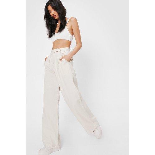 Womens Pantalon Large En Lin J'Ai Décidé De Prendre Le Large - Nasty Gal - Modalova