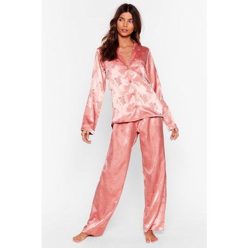 Womens Pyjama Chemise & Pantalon Large Effet Jacquard Fais De Beaux Rêves Baby - Nasty Gal - Modalova