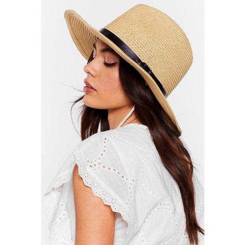Womens Chapeau Panama En Paille Avec Attaches Ajustables - Nasty Gal - Modalova