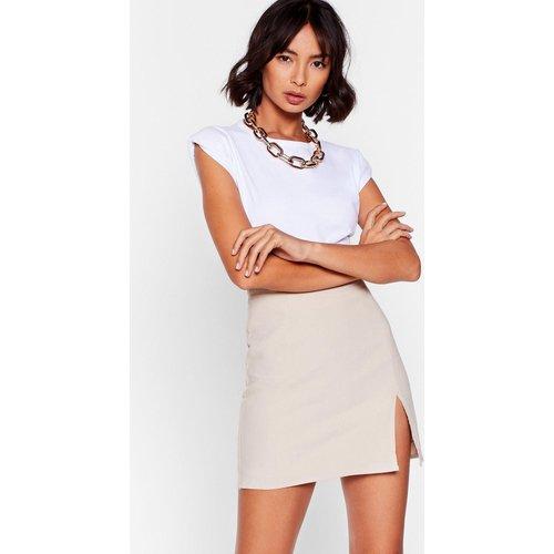 Womens Mini Jupe Taille Haute À Fente Je Parle Que Business - Nasty Gal - Modalova