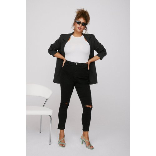 Womens Grande Taille - Jean Skinny Déchiré Aux Genoux - Nasty Gal - Modalova