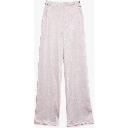 Womens Pantalon Large En Satin Effet Martelé Tu Me Rends Marteau - Nasty Gal - Modalova