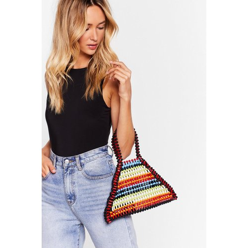 Womens Sac À Main Triangle Multicolore En Perles - Nasty Gal - Modalova