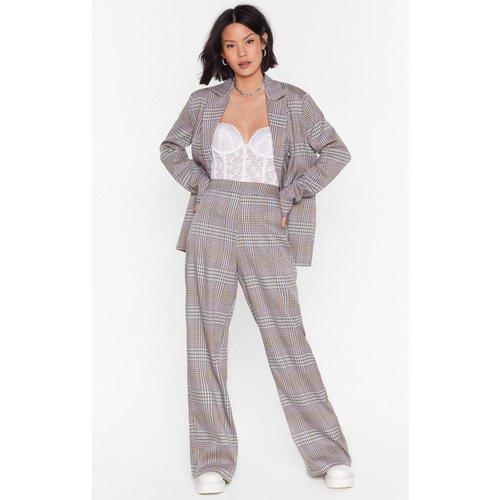 Womens Pantalon Large De Costume À Carreaux D'Affaires - Nasty Gal - Modalova