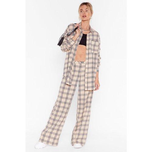 Womens Pantalon Large À Carreaux Carrément Raccord - Nasty Gal - Modalova