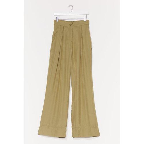 Womens Pantalon Large À Smocks - Nasty Gal - Modalova