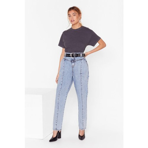 Womens Jean Mom Délavé Style 80'S Ima-Jean All The People - Nasty Gal - Modalova