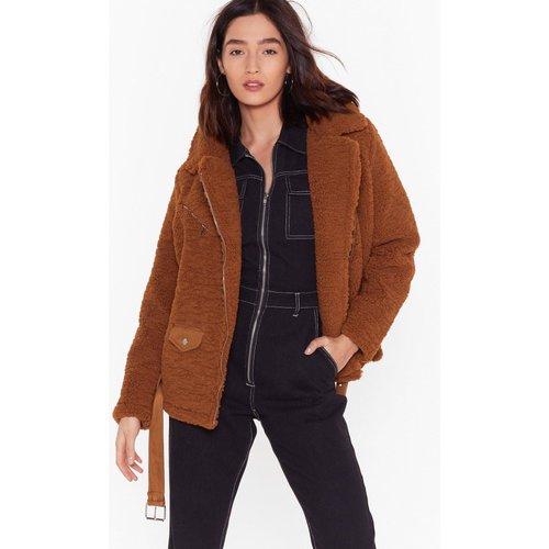 Womens Manteau En Fausse Fourrure Style Veste De Motard Parfaitement Couverte - Nasty Gal - Modalova