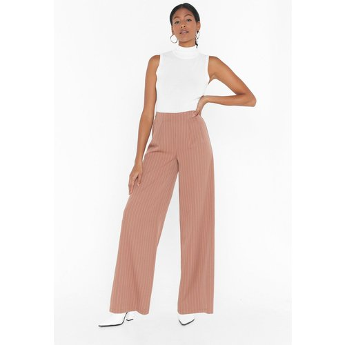Womens Pantalon De Costume Large À Rayures Unfinished Business - Nasty Gal - Modalova