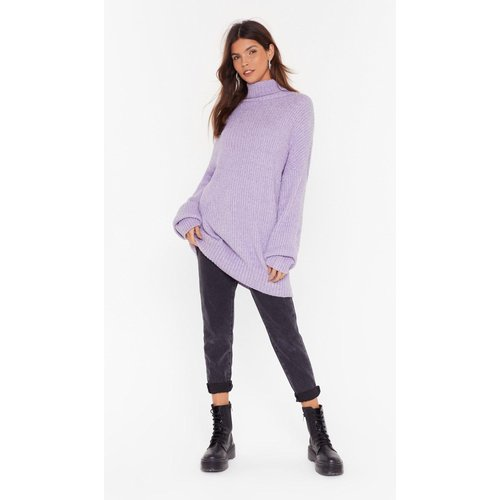 Womens Pull Oversize En Grosse Maille À Col Roulé Over The Top - Nasty Gal - Modalova
