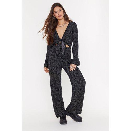 Womens Pantalon Large À Imprimé Pois Irréguliers - Nasty Gal - Modalova