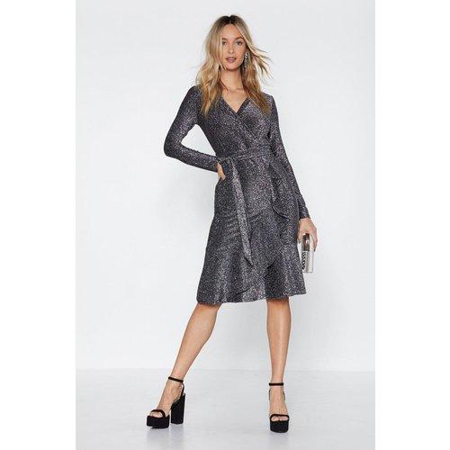 Womens Dressed To Impress Glitter Dress - Nasty Gal - Modalova