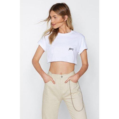 T-Shirt Court Brodé Nasty - Nasty Gal - Modalova