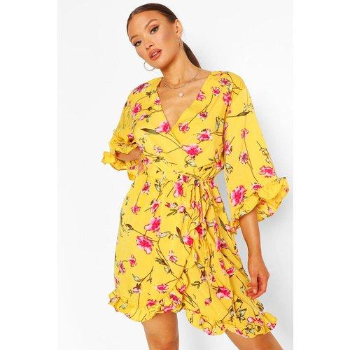 Robe Patineuse À Fleurs - boohoo - Modalova