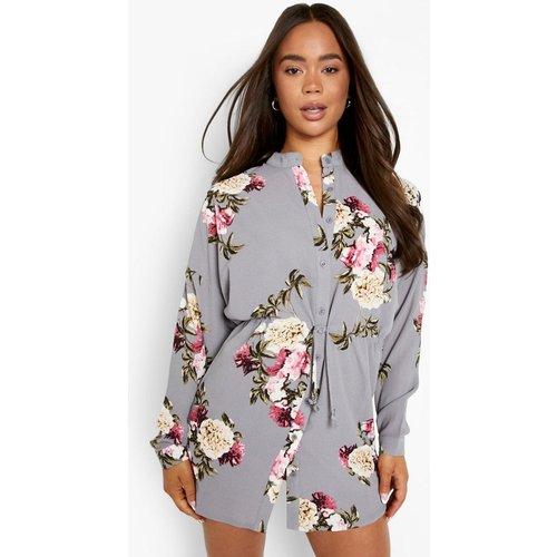 Robe Chemise Florale - boohoo - Modalova