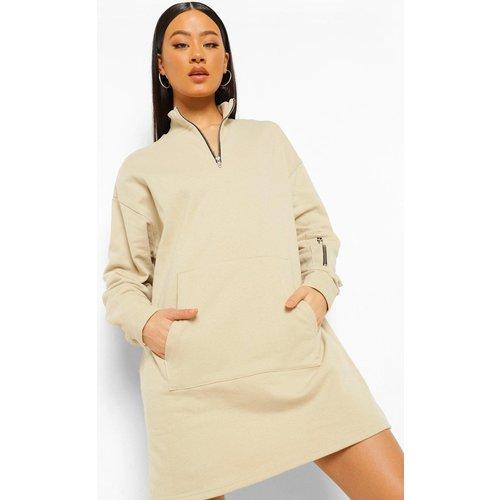 Robe Sweat Fonctionnelle Zippée - boohoo - Modalova