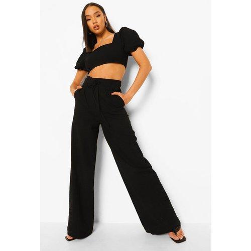 Pantalon Large Taille Haute - boohoo - Modalova