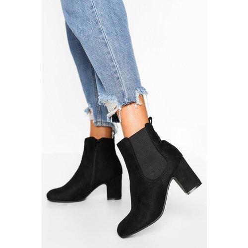 Chelsea Boots À Talons Carrés Chaussures Pieds Larges - boohoo - Modalova