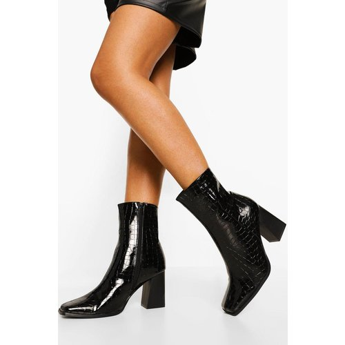 Bottines Vernies À Bout Carré - boohoo - Modalova