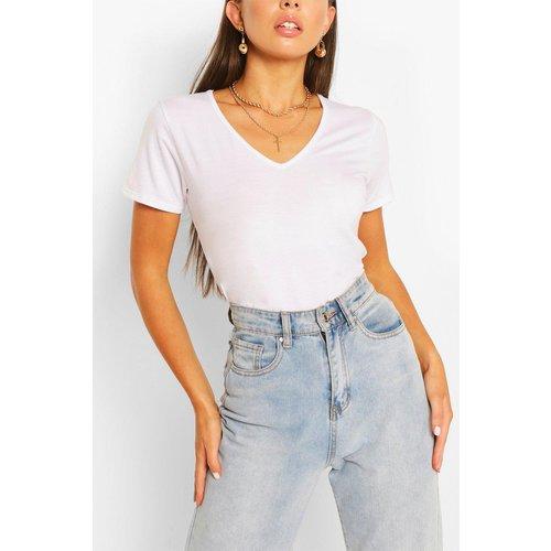 T-Shirt Basique Col V Supersize - boohoo - Modalova