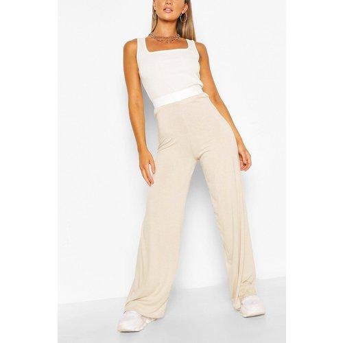 Pantalon Large Et Fluide Quotidien Ton Sur Ton - - boohoo - Modalova
