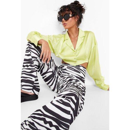 Pantalon Large & Fluide Imprimé Zèbre - boohoo - Modalova