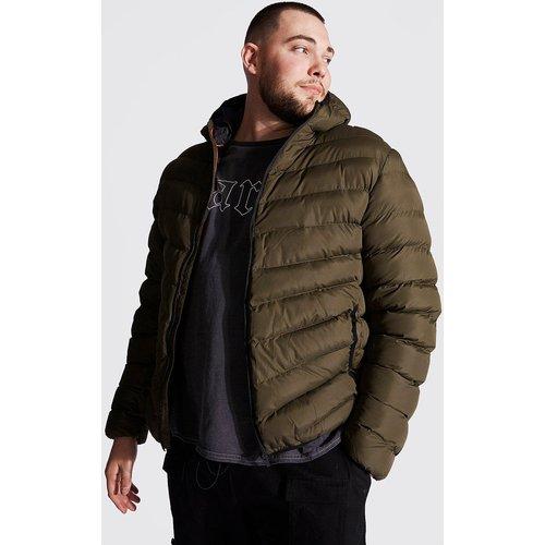 Veste matelassée zippée à capuche Grandes tailles - Boohooman - Modalova