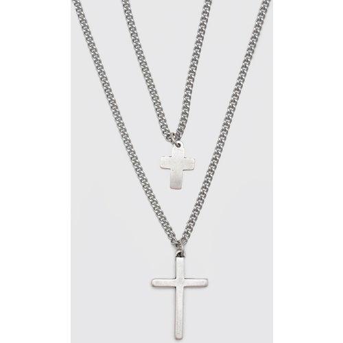 Collier à croix - Boohooman - Modalova