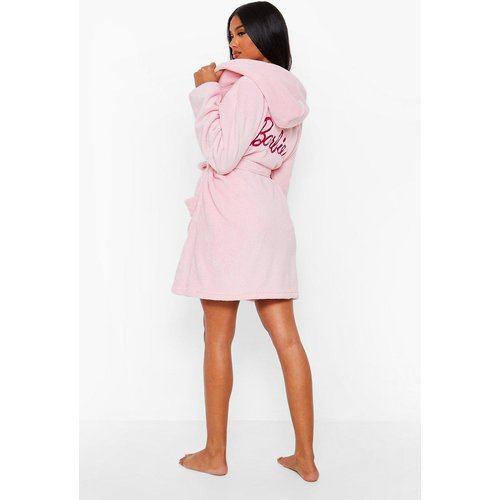 Robe De Chambre Polaire Brodée Barbie - boohoo - Modalova
