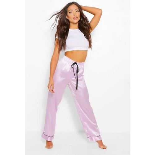 Pantalon De Pyjama Satin À Coordonner - boohoo - Modalova